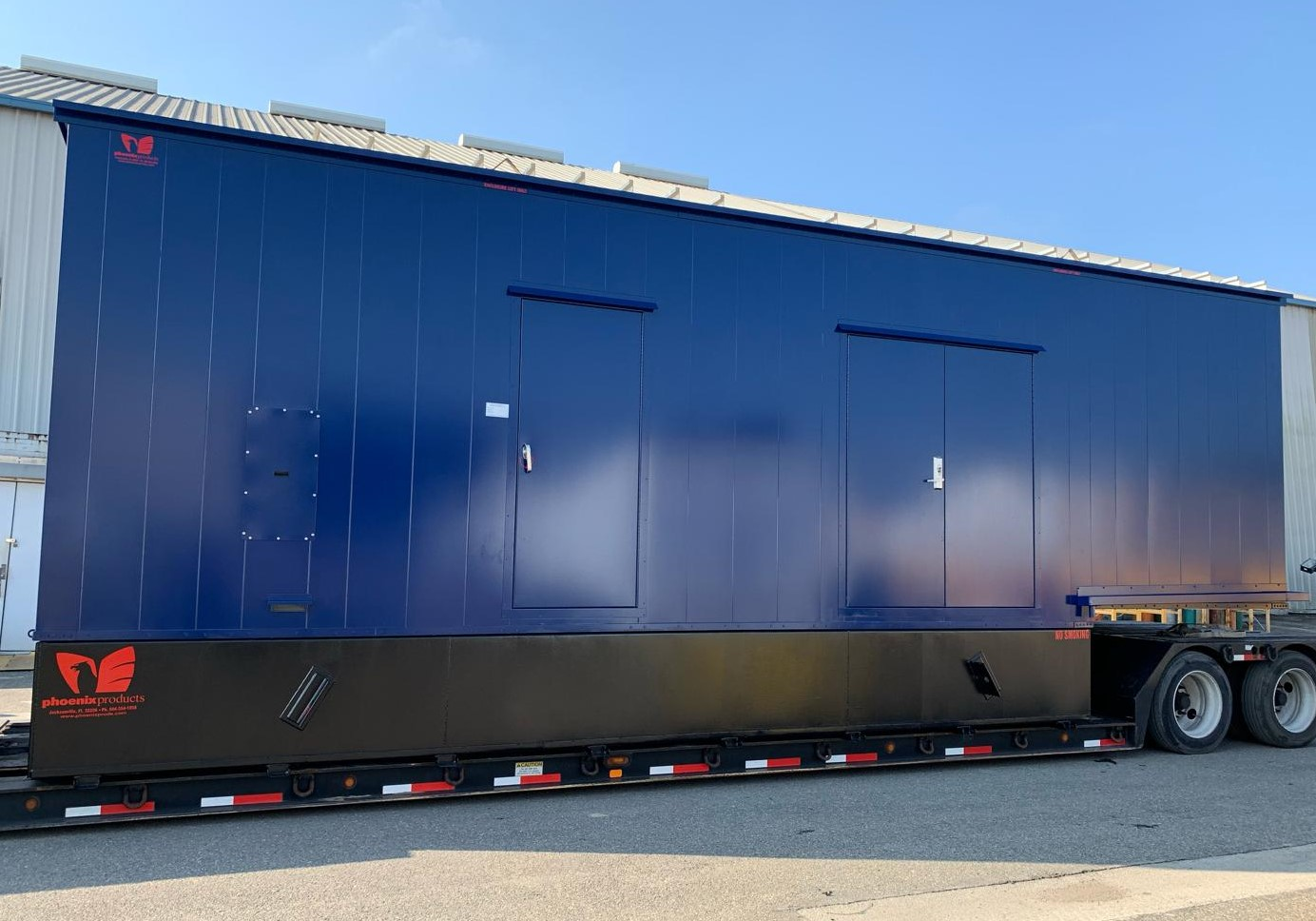 Phoenix-Products-Custom-Blue-Aluminum-Generator-Enclosure