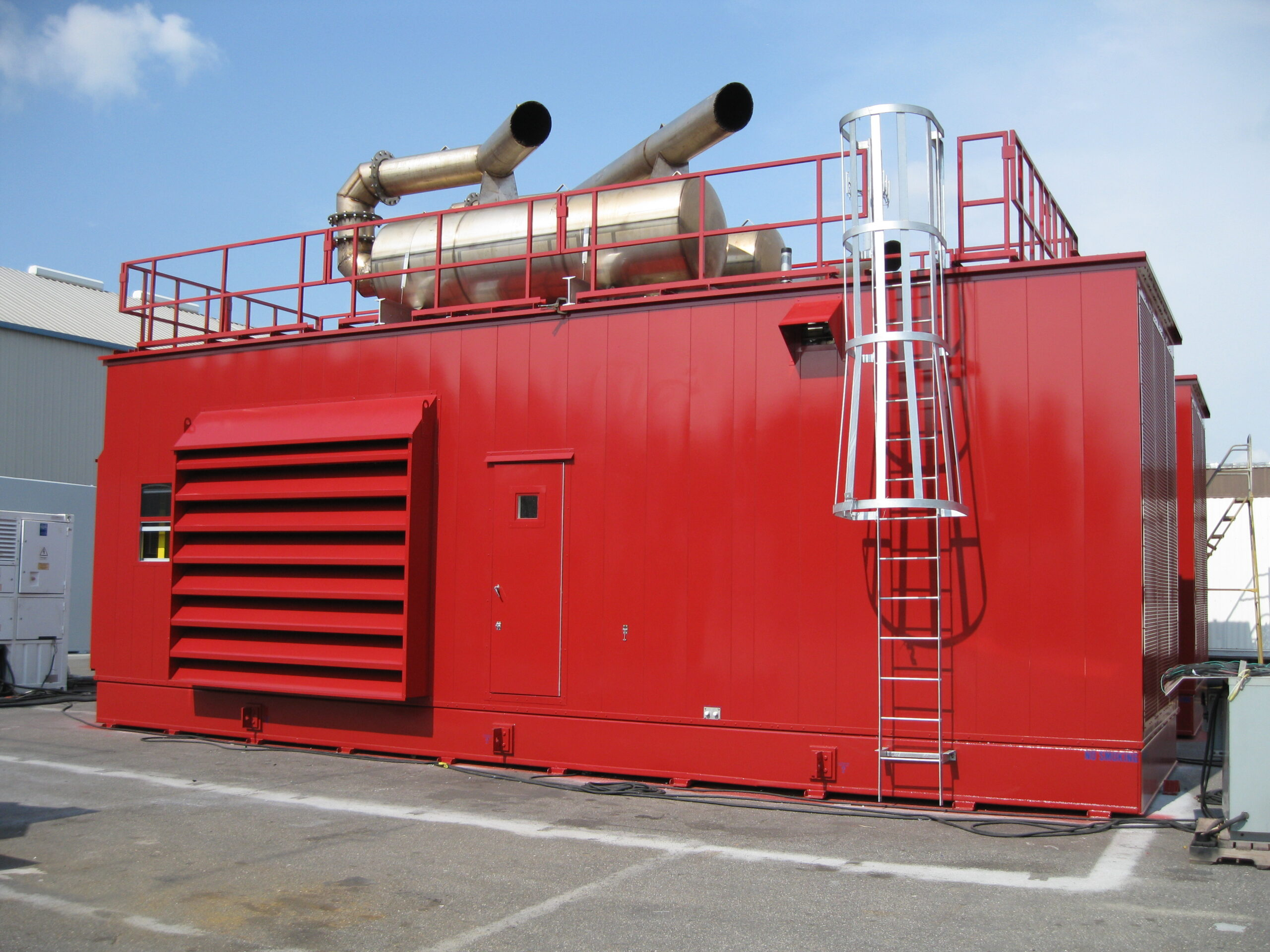 Phoenix-Products-Custom-Red-Aluminum-Generator-Enclosure-Packaging