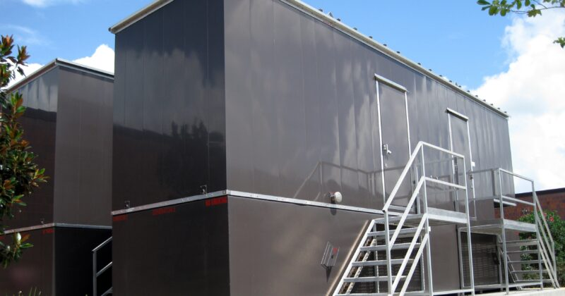 Phoenix-Products-Custom-Aluminum-Generator-Enclosures-With-UL-Sub-Base-Fuel-Tanks-And-Custom-Stairs-For-Data-Center