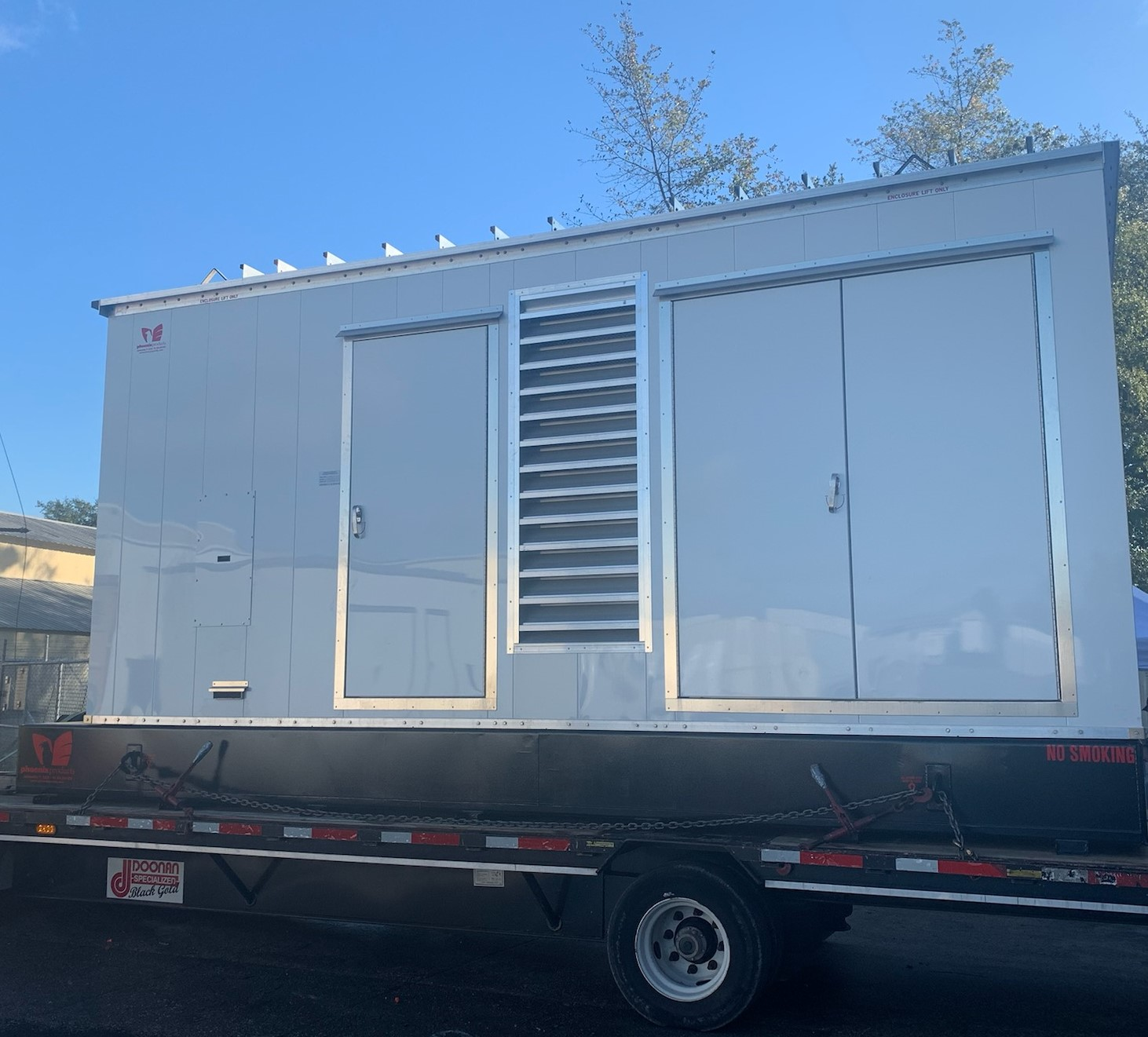 Phoenix-Products-Custom-Aluminum-Standby-Generator-Enclosure-With-Louvers-And-Double-Doors