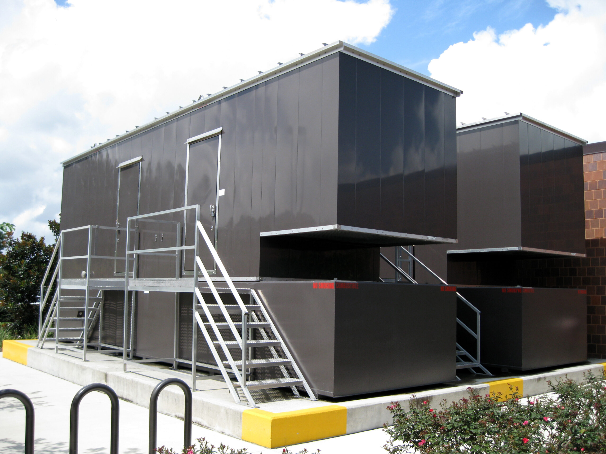 Phoenix-Products-Custom-Generator-Enclosures-With-UL-Sub-Base-Fuel-Tanks-And-Custom-Stairs-For-Data-Center