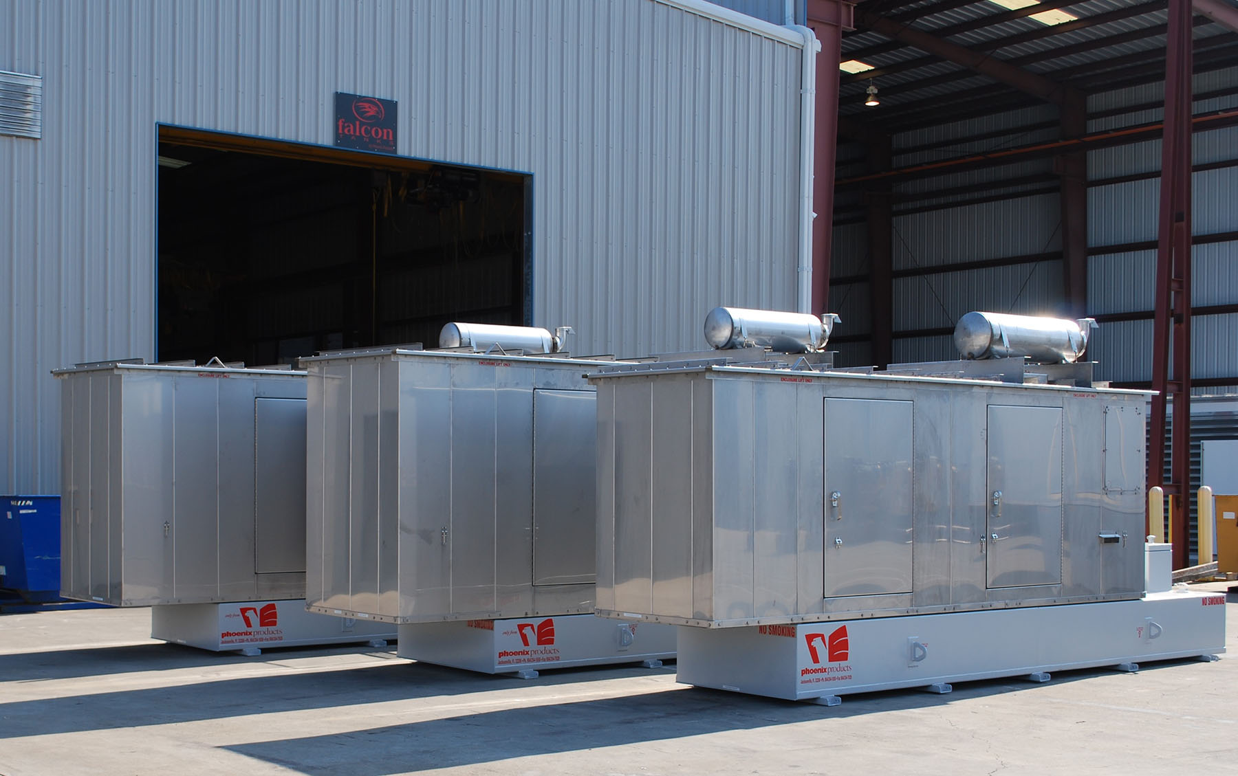 Phoenix-Products-Three-Custom-Stainless-Steel-Generator-Enclosures-With-UL-Sub-Base-Fuel-Tanks-v2